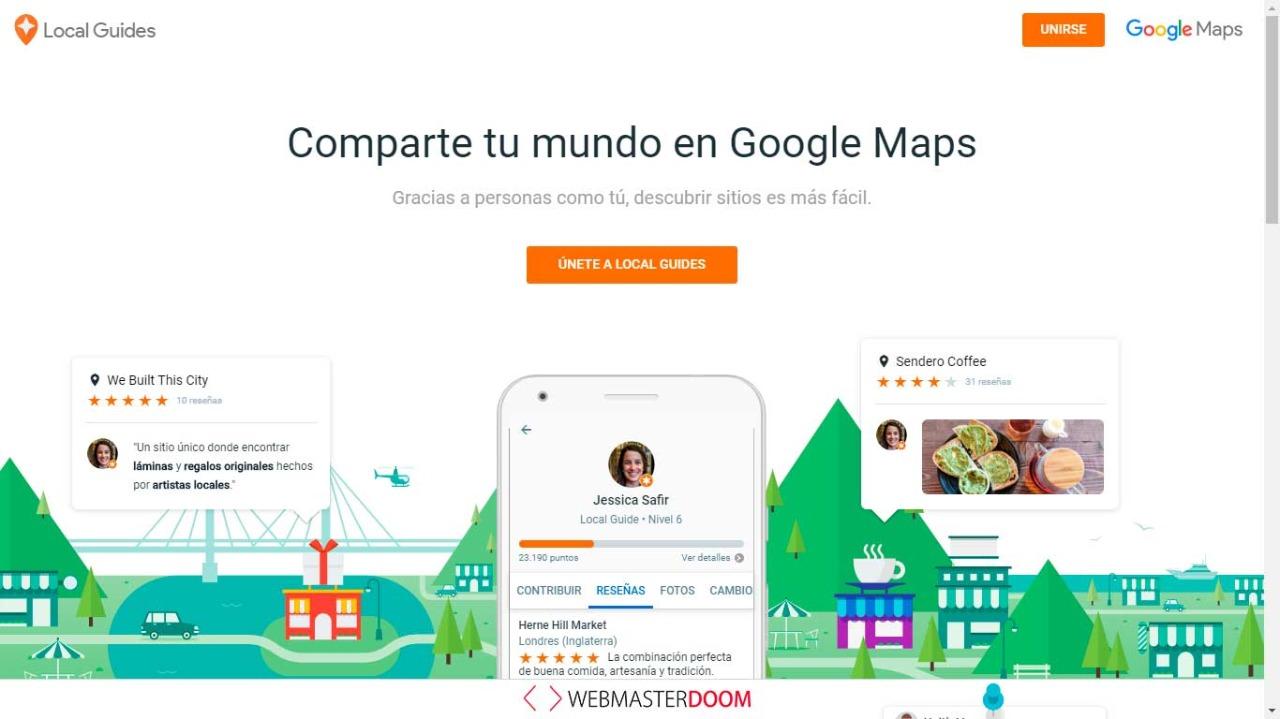 Comparte tu mundo en Google maps