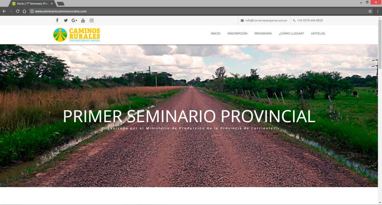 Primer Seminario Caminos Rurales